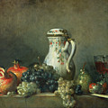 Still Life With Grapes And Pomegranates by Jean-Baptiste Simeon Chardin