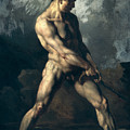 Study Of A Male Nude by Theodore Gericault