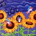 Sunflowers And Faeries by Genevieve Esson