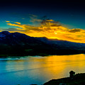 Sunset At Horsetooth Reservoir by Harry Strharsky
