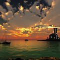 Sunset Lighthouse by Jim Coe