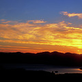 Sunset Over Lake Champlain From Mount Philo by John Burk