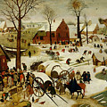 The Census At Bethlehem by Pieter the Younger Brueghel