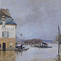 The Flood At Port Marly by Alfred Sisley