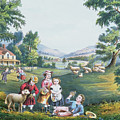 The Four Seasons Of Life Childhood by Currier and Ives