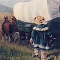 The Little Pioneer Western Art by Kim Corpany
