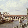 The Pontevecchio - Florence  by Antonietta Brandeis