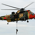 The Sea King Helicopter Of The Belgian by Luc De Jaeger