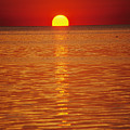 The Sun Sinks Into Pamlico Sound Seen by Stephen St. John