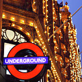 The Underground And Harrods At Night by Heidi Hermes