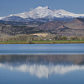 Twin Peaks Mccall Reservoir Reflection by James BO  Insogna