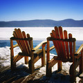 Two Adirondack Chairs  by George Oze