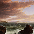 View Across Frenchman's Bay From Mt. Desert Island After A Squall by Thomas Cole