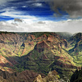 Waimea Canyon Hawaii Kauai by Brendan Reals