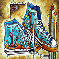 Whimsical Shoes By Madart by Megan Duncanson