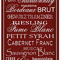 Wine List Red by Rebecca Gouin