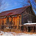 Winter Barn - Chatham New Hampshire by Thomas Schoeller