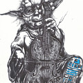 Yoda Soothes Baby R2 With The Charm Of His Homegrown Cello by Tai Taeoalii