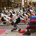 Yoga At Bryant Park by Luis Lugo
