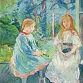 Young Girls At The Window by Berthe Morisot