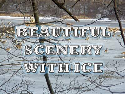 Beautiful Scenery With Ice
