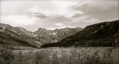 Colorado Mountains in Black and White