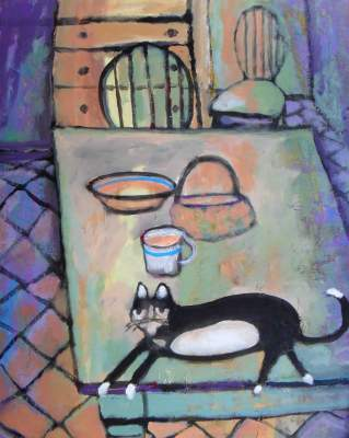 Domestic Cat Paintings