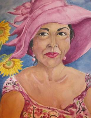 Paintings of people or animals in hats