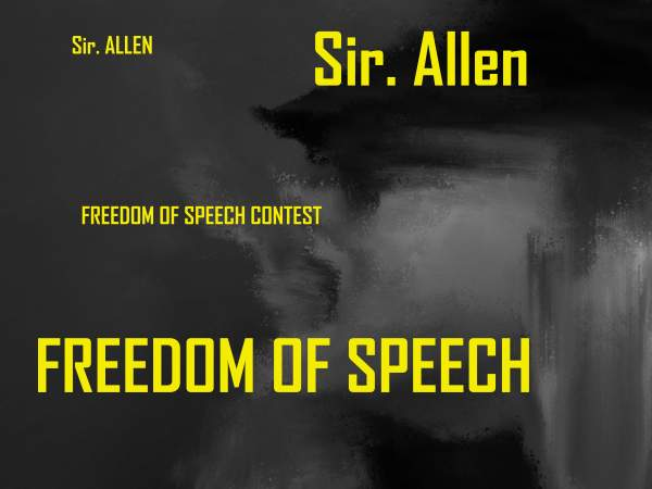 Sir Allen Protest against ban of freedom of speech