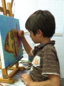 ACRYLIC PAINTING LESSONS AT SAM FLAX ORLANDO STORE