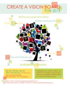 CREATE A VISION BOARD FOR 2013 AND BEYOND