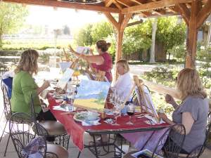 Acrylic Painting Class at Keyways Winery