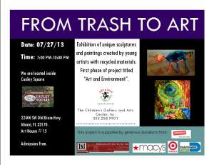 From Trash to Art Exhibition