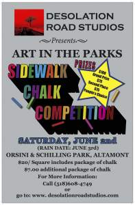 2012 Altamont Art in the Parks Sidewalk Chalk Art Competition