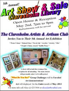 Claresholm Artist and Artisans Spring Show
