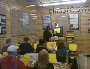 Frank Wilsons Acrylic Painting Workshops at Michaels in Chico California