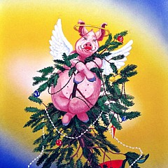 Its A Merry Christmas When Pigs Fly Gallery - Fine Artist