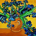 ABSTRACT  FLOWERS   BLUE  BY YOU - Art Group
