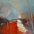 Palette knife in oil