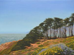 The New Oil Painting San Francisco Lands End By Alex Vishnevsky