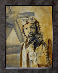 Portrait Of Tuskegee Airman Milton Williams