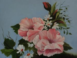 Artist Louise Williams Displayes....New Flower Gallery