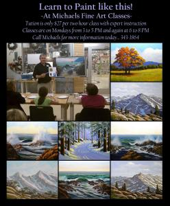 Frank Wilson Teaches Acrylic Painting Workshops At Michaels