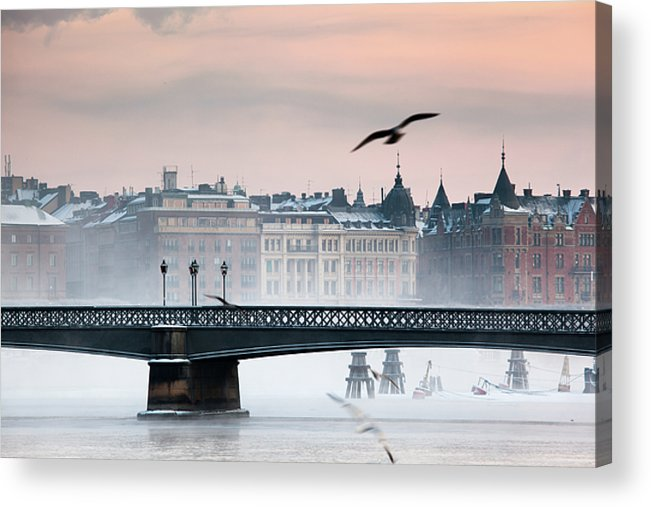 Horizontal Acrylic Print featuring the photograph Skeppsholmsbron, Stockholm by Hannes Runelöf