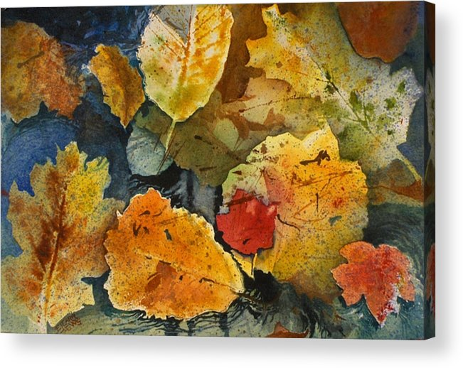 Reds Acrylic Print featuring the painting Fallen by Elizabeth Carr