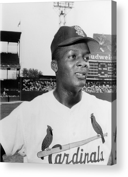 1959 Acrylic Print featuring the photograph Curt Flood (1938- ) by Granger