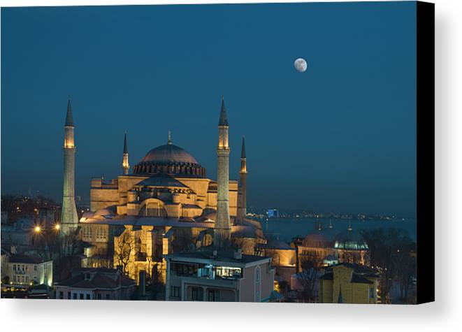 Horizontal Canvas Print featuring the photograph Hagia Sophia Museum by Ayhan Altun