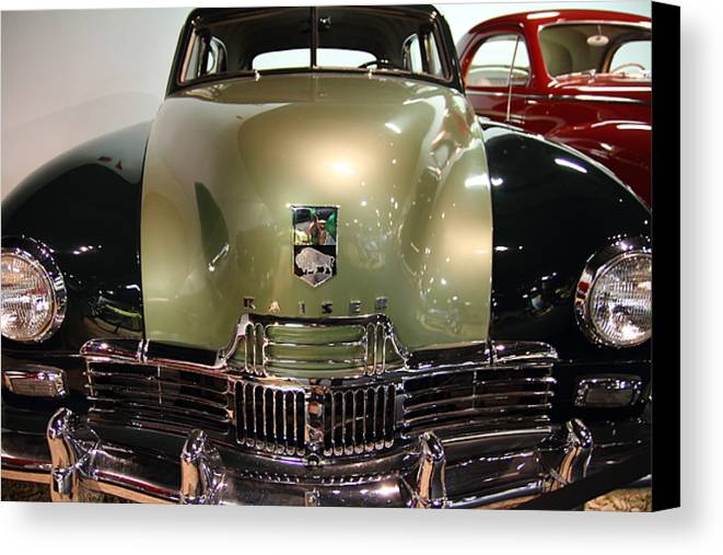 Transportation Canvas Print featuring the photograph 1947 Kaiser by Wingsdomain Art and Photography