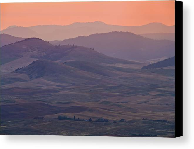 Horizontal Canvas Print featuring the photograph Palouse Morning From Steptoe Butte by Donald E. Hall
