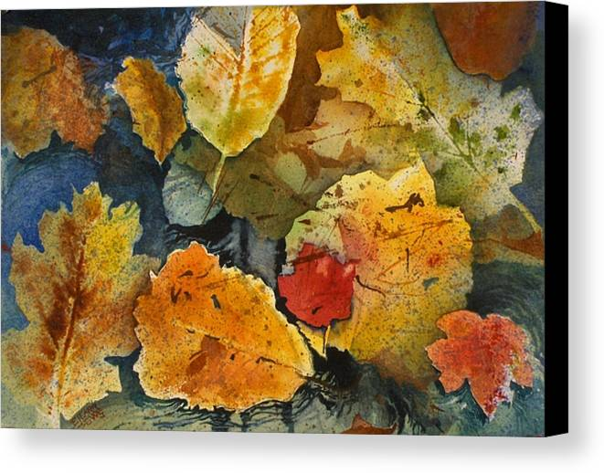Reds Canvas Print featuring the painting Fallen by Elizabeth Carr